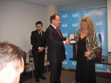 President Bujar Nishani and Dr Anna Kohen